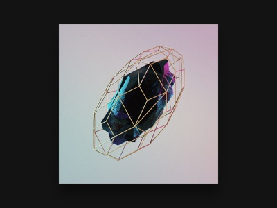 3D Studies — 008 material light formation metal gold texture rock cg c4d 3d design