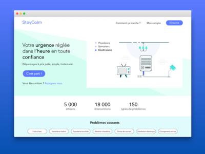 StayCalm Homepage