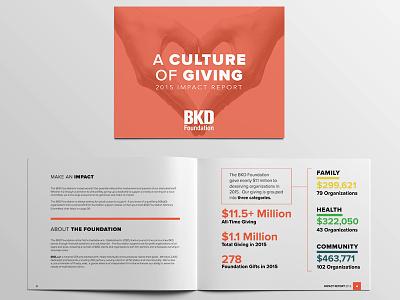 BKD Foundation 2015 Impact Report palette proximanova photoshop illustrator editorial indesign a4 annualreport