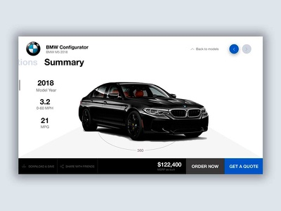 BMW Configurator ux design ui