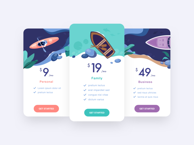 Pricing concept 🛶