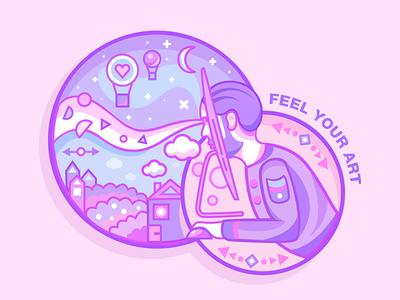 Feel your art 👩🏻🎨