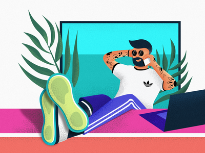 Chat📱 shading glasses laptop desk tattoo adidas originals shoes colours vector