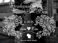 Stephanie and Ben Save the Dates
