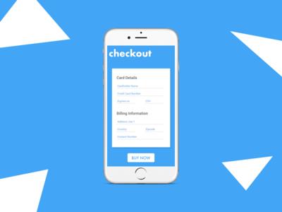 Daily UI #2 - Checkout visual design ui design checkout mobile design interaction design daily ui app adobe xd