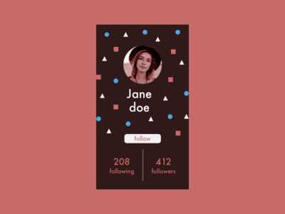 Daily UI #6 - User Profile ui design visual design app design interaction design daily ui user profile app sketch