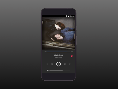 Daily UI #9 - Music Player mobile design sketch app design visual design interaction design daily ui android music player app