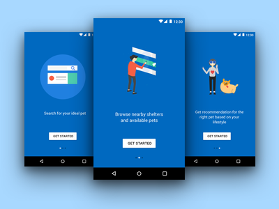 Onboarding screens mobile app android ui ui onboarding