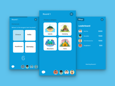 Mobile app for Fibbage game visual design figma fibbage mobile app game mobile user interface design ui