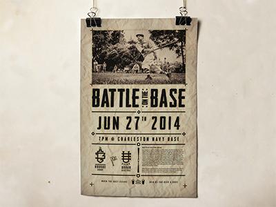 Dribbble bg ue softball poster