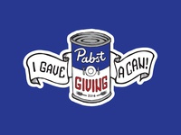 Pabstgiving Donation Sticker