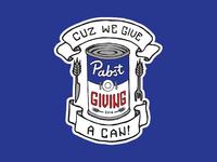 Pabstgiving Logo Tagline