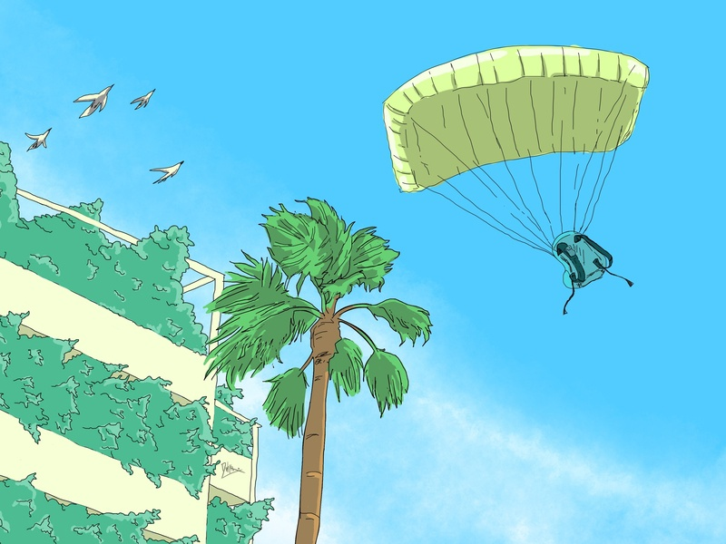 Enjoying the wind landscape illustration digitalart digitalartist artwork indonesia designer illustration