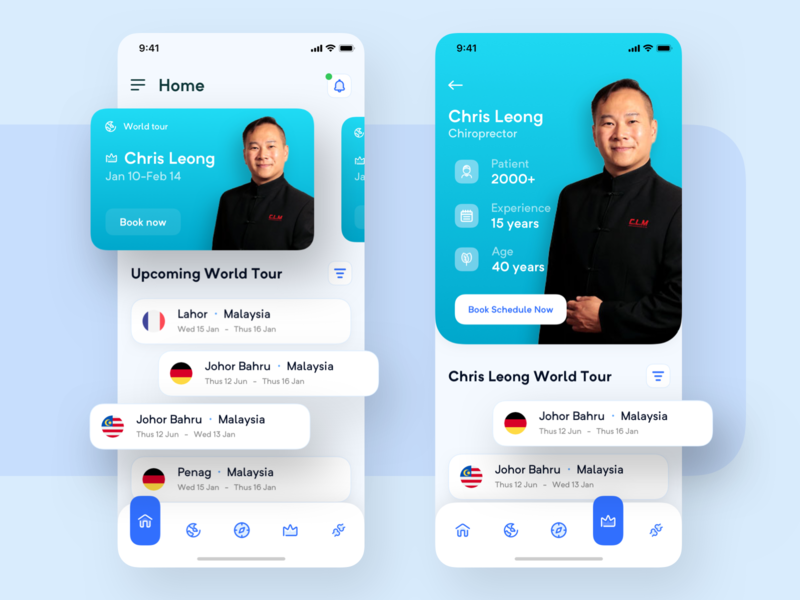 docBook - Personal Doctor Booking App calender featured trendy blue calendar world tour schedule cool ui kit design ui clean apps booking doctor personal