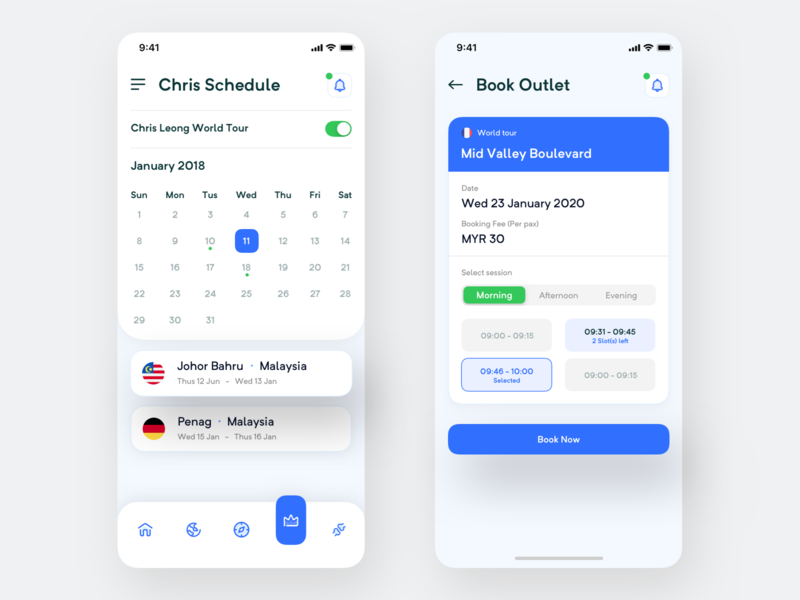 docBook - Personal Doctor Booking App (Part 3) trendy ui person flag calendar mobile ios patient industry medical outlet book schedule 2020 apps booking doctor personal
