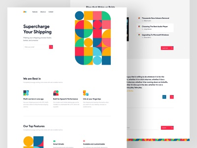 Pattern Landing Page Concept (White) landing concept popular new trendy typography white ux ui website shipping color pattern design landing page design
