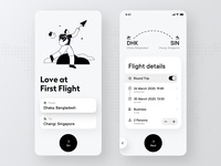 Flight Booking App Concept booking system clean white airplane details flight search design tranding search flight app app illustrations passenger business destination travel plane flight booking app booking
