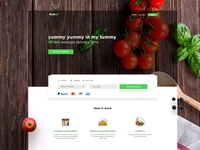 Yummy | Food Delivery Landing Page