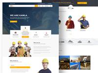 KAMLA Construction Landing Page