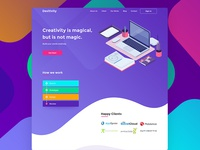 Desitivity - Landing Page Design Idea