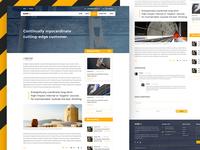 Blog Page Design Concept