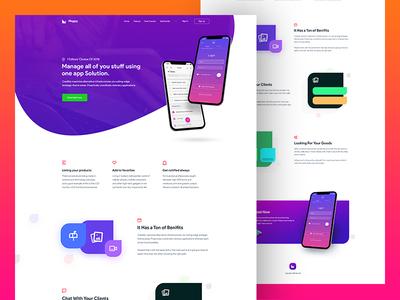 Mappy -  Full App Landing Concept 2018 design website gradient ui trendy color shape landing app