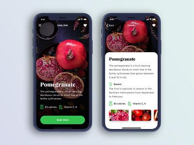 Fruits App fruits iphone x dark typography 2018 concept app new trendy design ui