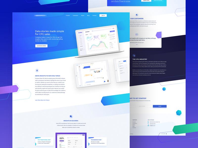 Analytics Website Design trendy popular ux website builder landing page gradient design website analytics