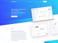 Analytics website design by uiturtle 2018
