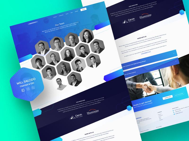 Analytics Team Page Design gradient 2019 ux color shape website analytics team design trendy ui
