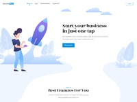 Solutionbuzz landing page by uiturtle 2019