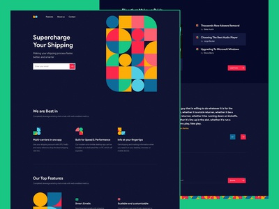 Pattern Landing Page Concept