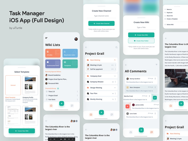 Task Manager App (Full Design) project comments task manager template list todo list task todolist todo app popular concept 2019 new ux design trendy ui