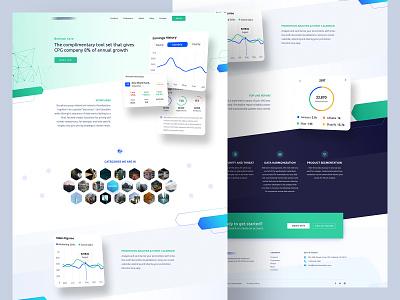 Analytics Core Page Design clean ui gradient analytics stripe popular 2019 website landing color new ux design trendy ui