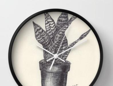 Ballpen Plant 🌱 Society 6 parkerpen moleskine sketch design drawing society6 frame wallart illustration society6 ballpen