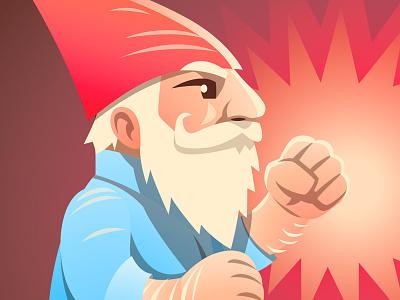 Gnomey character vector illustration