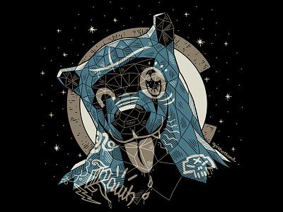 Denver Blue Bear v2 denver apparel t-shirt illustration design