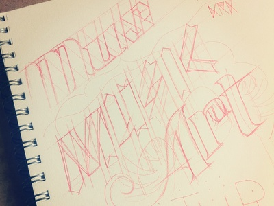 Working out some type. typography sketch type sketchbook
