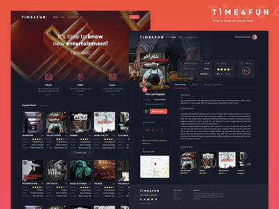 Time4fun  Website Ui Design details page homepage ux design uidesign