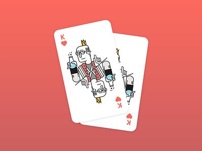 King Of Hearts illustration design