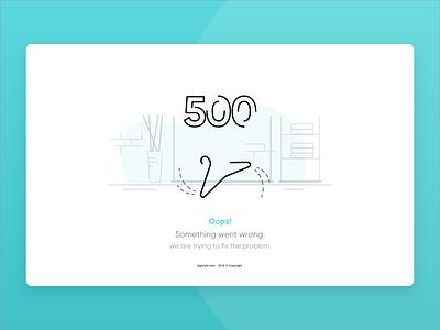 Digistyle 500 Error icon vector online store store hanger error 500 error page web ui illustration