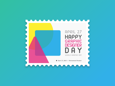 World Graphic Day typography graphic design 2d design illustration