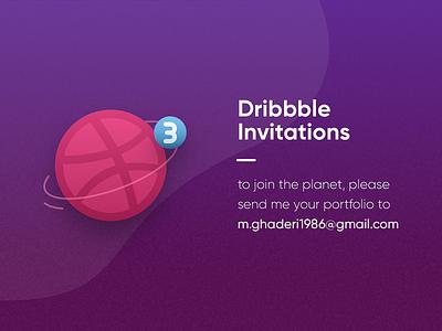 Dribbble Invitations designers ui ux design uidesign vector design 2d illustration dinvitations