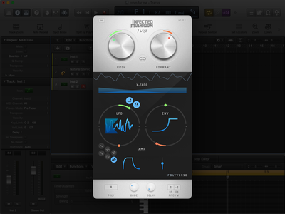 I Wish ui synth space sound sketch product plugin modulation knob evil audio