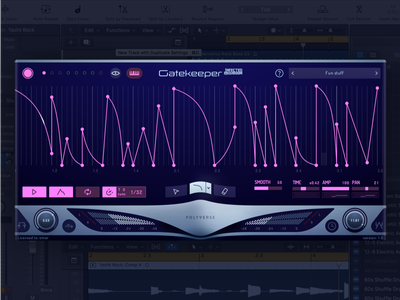 Gatekeeper meters envelope fader knob futuristic space ui ux interface sound audio gui