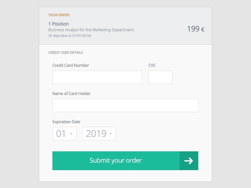 Checkout form checkout payment ui ux flat interface web