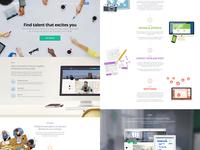 Landing page landing website homepage ui clean flat web