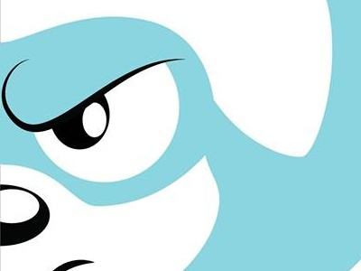 Super puppy dog logo lineless colors flat hero super