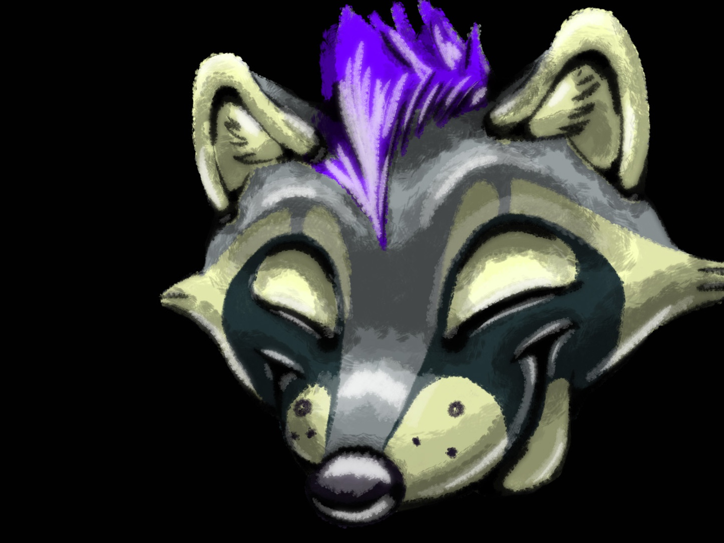 Friend COMM 01 animal character sketchbook autodesk design logo raccoon