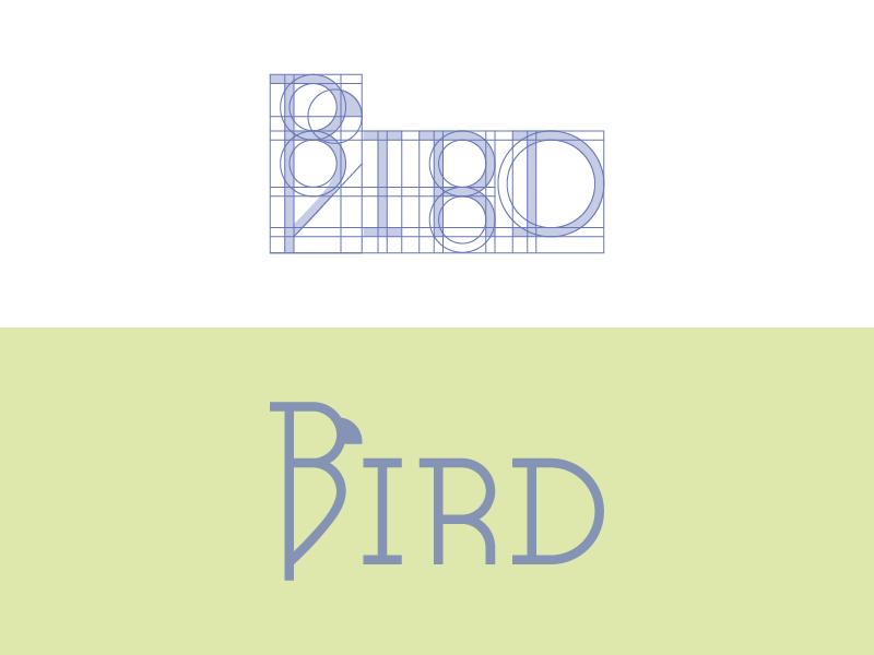 Bird Logo Construction typography logo letter b inspiration identity design concept branding bird logo bird b